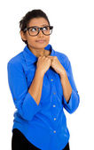Nerdy woman — Stock Photo