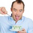 Stock Photo: Greedy man, CEO