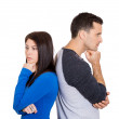 Couple in disagreement — Stock Photo