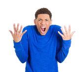 Uomo urlando — Foto Stock