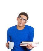 устал студент — Стоковое фото