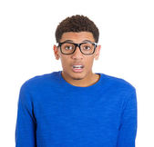 Stunned nerd man — Stock Photo