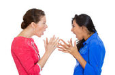 Two mad women — Stock Photo