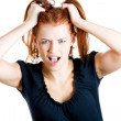Stressed woman screaming — Stock Photo