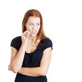 Diş ağrısı olan kadın — Stok fotoğraf