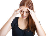 Woman with headache — 图库照片