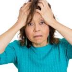 Unhappy old woman — Foto de Stock