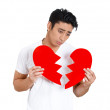 Stock Photo: Sad man, broken heart