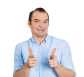 Handsome man pointing — Stock Photo