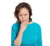 Pensive woman — Stock Photo