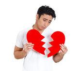 Sad man, broken heart — Stock Photo