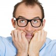 Stressed nerdy man — Stock Photo