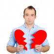 Mwith broken heart — Stock Photo #41077731