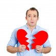 Mwith broken heart — Stock Photo #41077749