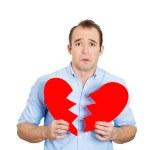 Man with broken heart — Stock Photo