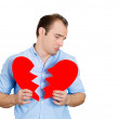 Man with broken heart — Stockfoto