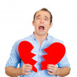 Man cruying, broken heart — Stock Photo