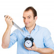 Man killing time — Stock Photo