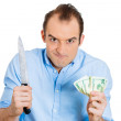 Stock Photo: Greedy mready to kill for money