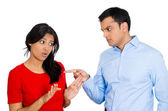 Arguing couple — Foto de Stock