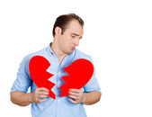 Man with broken heart — Stock Photo