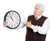 Old man in rush — Stock Photo