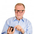 Frustrated angry senior man — Stock Photo