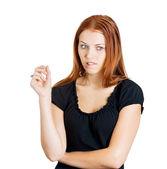 Triest zakenvrouw — Stockfoto