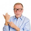 Man giving a reality check gesture — Stock Photo