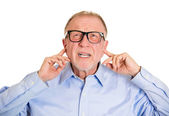 Angry senior man — Stock Photo
