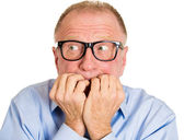 Senior man scared — Stock Photo