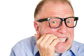 Senior man unhappy — Stock Photo