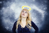Daydreaming angel — Stock Photo
