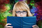 Reading woman — Stock Photo