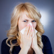 Sick teen woman with allergy — Stock Photo #43521943