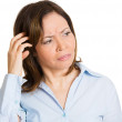 Woman, scratching head — Stock Photo
