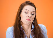 Funny woman with bad attitude — Stockfoto