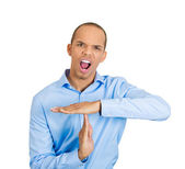 Man showing time out gesture — Stock Photo