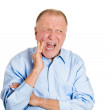Man with tooth ache crown problem — Stock Photo
