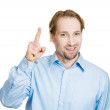 Man pointing up having idea — Stock Photo