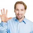 Man making five times sign gesture — Stock Photo