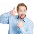 Man making call me gesture sign — Stock Photo #43714075