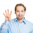 Man making four times sign gesture — Stock Photo #43714587