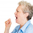 Angry woman yelling — Stock Photo