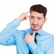 Man thinking trying to remember something — Stock Photo