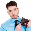 Man showing his empty wallet — Stock Photo