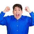 Excited, energetic man — Stock Photo