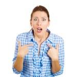 Unhappy annoyed woman — Stock Photo
