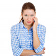 Upset woman — Stock Photo