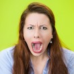 křičí žena — Stock fotografie